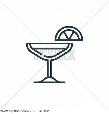 cocktail icon isolated on white background from celebration collection. cocktail icon trendy and mod