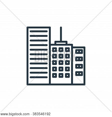 building icon isolated on white background from building collection. building icon trendy and modern