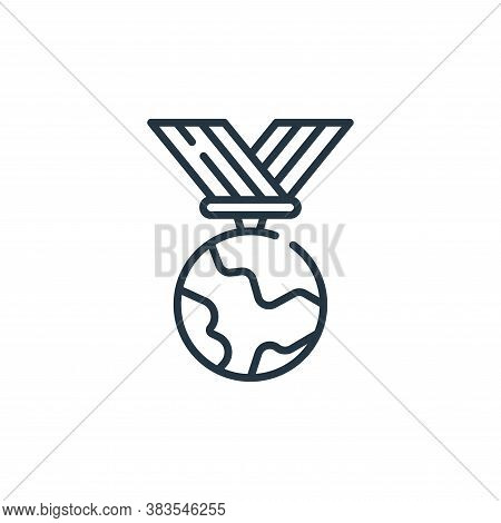medal icon isolated on white background from mother earth day collection. medal icon trendy and mode