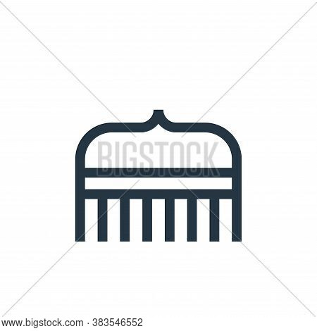 comb icon isolated on white background from hairdressing and barber shop collection. comb icon trend