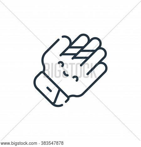 baseball glove icon isolated on white background from baseball collection. baseball glove icon trend