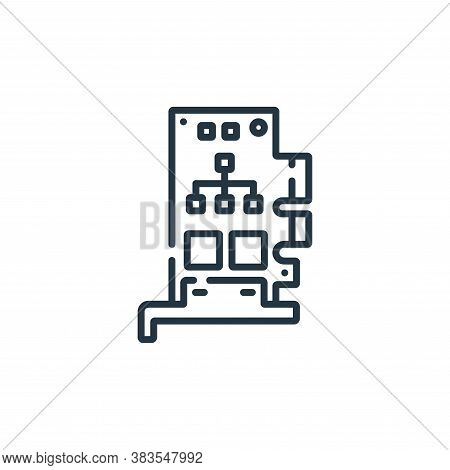 Network Interface Card icon isolated on white background from hardware collection. Network Interface