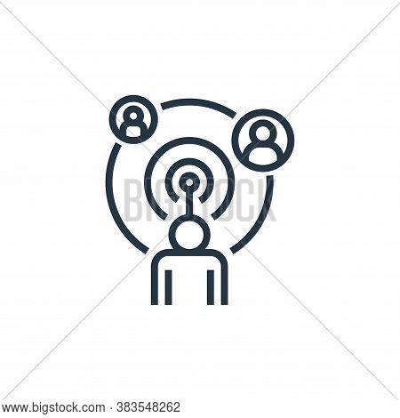 online icon isolated on white background from detecting fake news collection. online icon trendy and