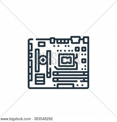 motherboard icon isolated on white background from hardware collection. motherboard icon trendy and
