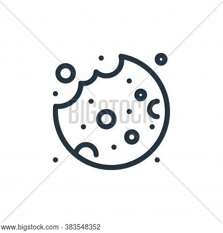cookie icon isolated on white background from food collection. cookie icon trendy and modern cookie