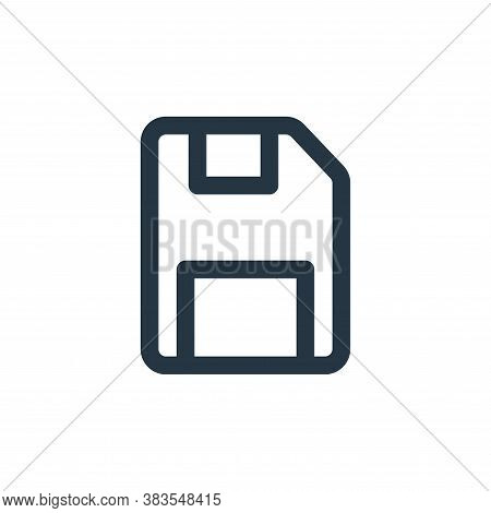 save icon isolated on white background from interface collection. save icon trendy and modern save s