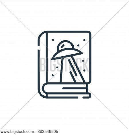 sci fi icon isolated on white background from books and literature collection. sci fi icon trendy an