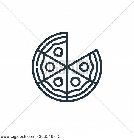 pizza icon isolated on white background from celebration collection. pizza icon trendy and modern pi