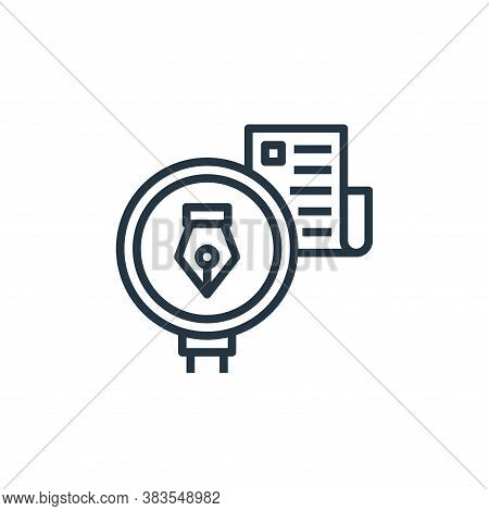 author icon isolated on white background from detecting fake news collection. author icon trendy and