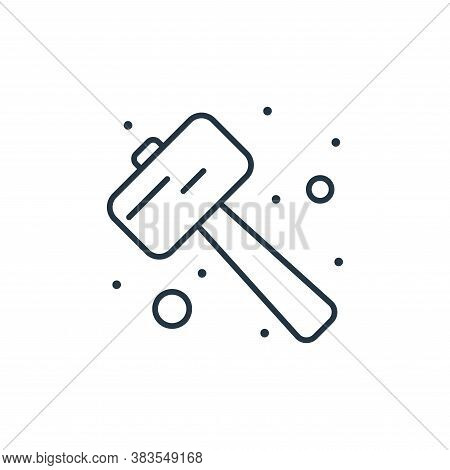 mallet icon isolated on white background from labour day collection. mallet icon trendy and modern m