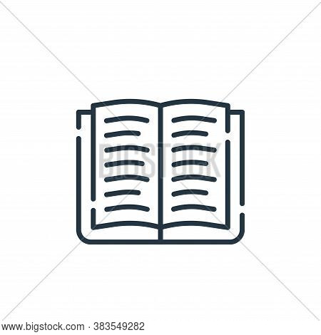 open book icon isolated on white background from office collection. open book icon trendy and modern