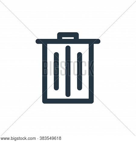 trash can icon isolated on white background from school collection. trash can icon trendy and modern