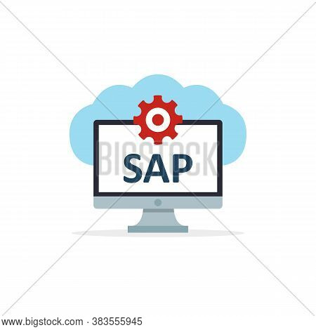 Sap Business Process Automation Software. Cloud Software Icon. System Software Enterprise Resource P