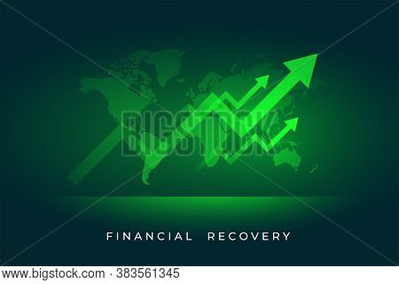 Economy Stock Market Growth Of Finacial Recovery