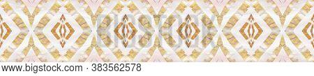 Aztec Rugs. Pastel Brown, Pink Blue Seamless Texture. Abstract Batik Design. Seamless Tie Dye Orname