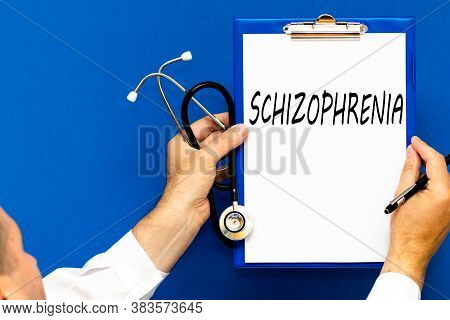 Schizophrenia And Psychotic Concept Woman Or Man Hands With Schizophrenia During Treatment