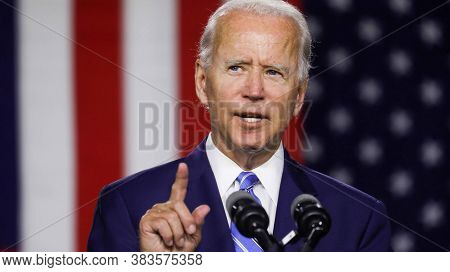 Washington Dc,united States,june 2020,democratic Party Presidential Candidate Joe Biden In Public Me