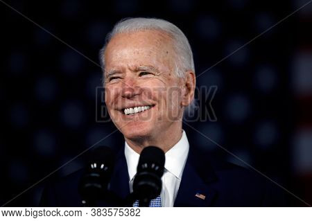 Washington Dc,united States,july 2020,democratic Party Presidential Candidate Joe Biden In Election