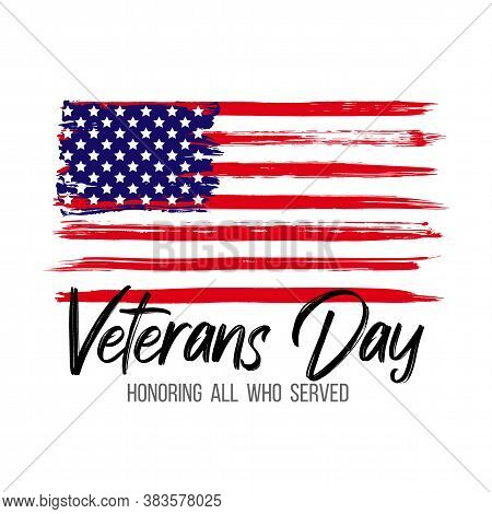 Veterans Day Card. Creative Illustration For Poster Or Banner Of Happy Veterans Day