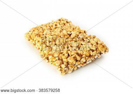Tasty Peanut Brittle Isolated On White Background