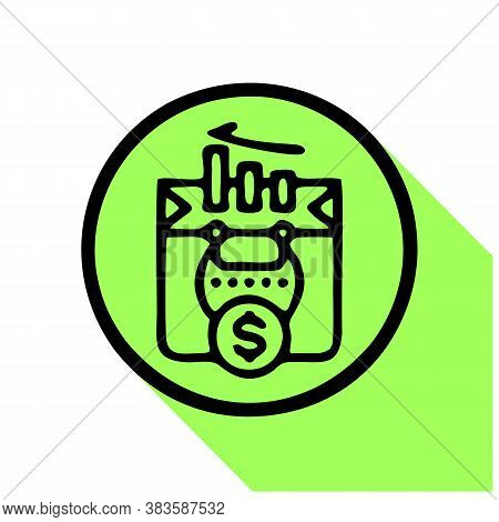 Finance Icon Isolated On White Background From Finance And Money Collection. Finance Icon Trendy And