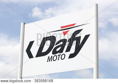 Saint Priest , France - May 16, 2020: Dafy Moto Logo On A Signboard. Dafy Moto Is A Distributor Of M