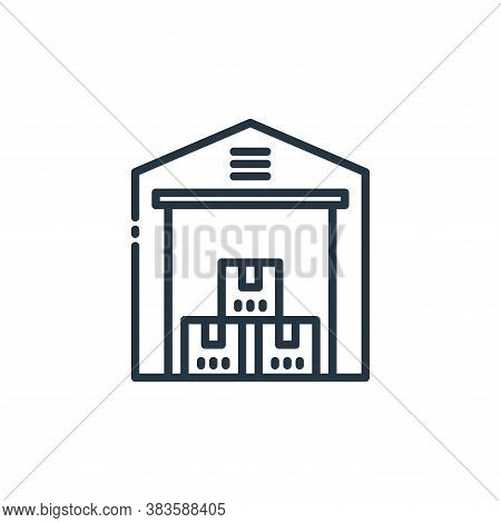warehouse icon isolated on white background from shipping logistics collection. warehouse icon trend