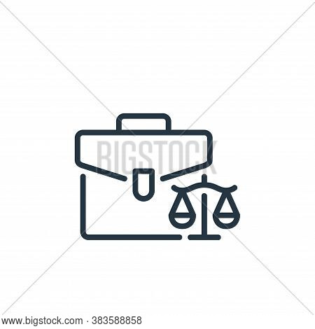 lawyer icon isolated on white background from law and justice collection. lawyer icon trendy and mod