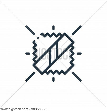 reflective icon isolated on white background from fabric features collection. reflective icon trendy