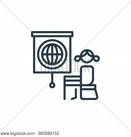 education icon isolated on white background from climate change collection. education icon trendy an