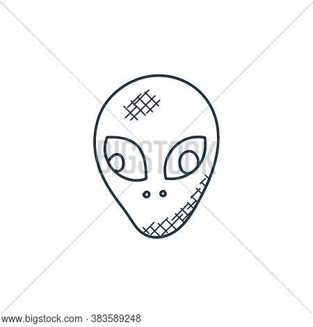 alien icon isolated on white background from space and aircraft collection. alien icon trendy and mo