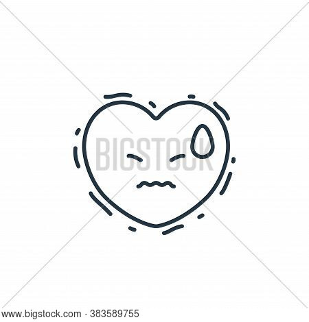 heart attack icon isolated on white background from air pollution collection. heart attack icon tren