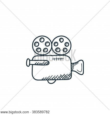 video camera icon isolated on white background from music collection. video camera icon trendy and m