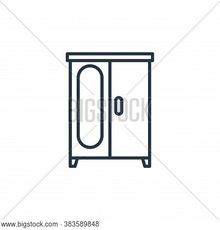 wardrobe icon isolated on white background from furniture collection. wardrobe icon trendy and moder