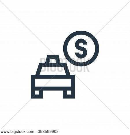 fare icon isolated on white background from taxi service collection. fare icon trendy and modern far
