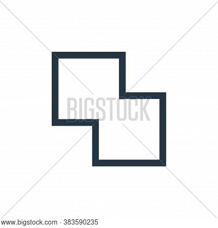 merge icon isolated on white background from vector editing collection. merge icon trendy and modern