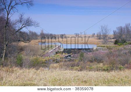 Upper Mound Lake At Blue Mounds