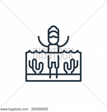 ocean icon isolated on white background from climate change collection. ocean icon trendy and modern