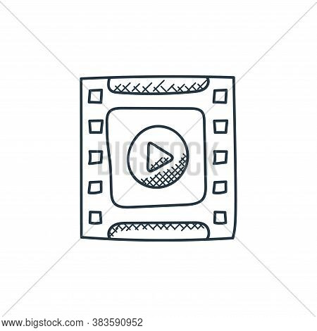 film strip icon isolated on white background from music collection. film strip icon trendy and moder