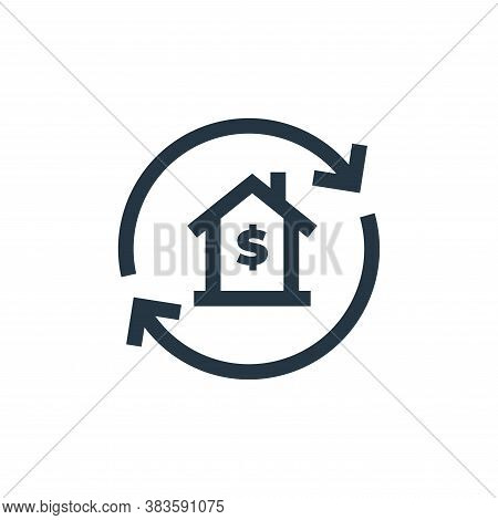 loan icon isolated on white background from economy collection. loan icon trendy and modern loan sym