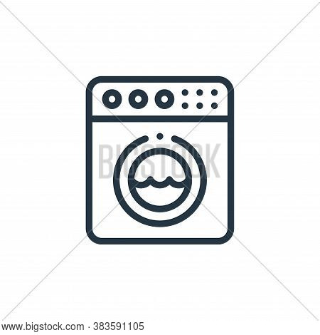 washing machine icon isolated on white background from fabric features collection. washing machine i