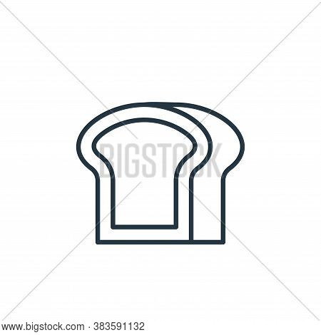 toast icon isolated on white background from bakery collection. toast icon trendy and modern toast s