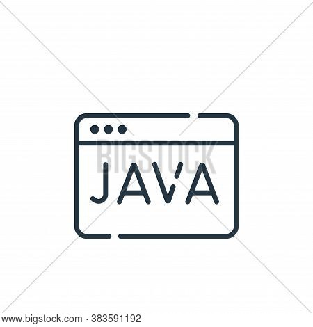java icon isolated on white background from programming collection. java icon trendy and modern java