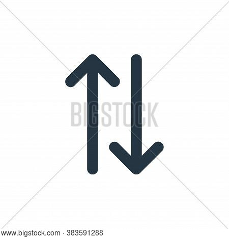 exchange icon isolated on white background from basic ui collection. exchange icon trendy and modern