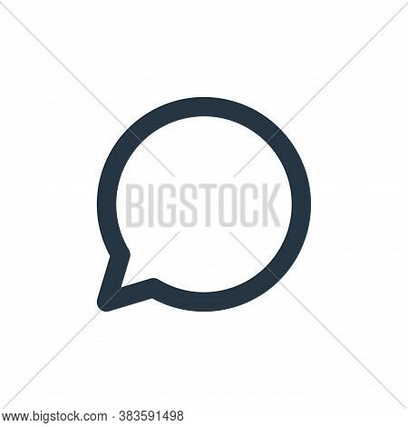 chat icon isolated on white background from basic ui collection. chat icon trendy and modern chat sy