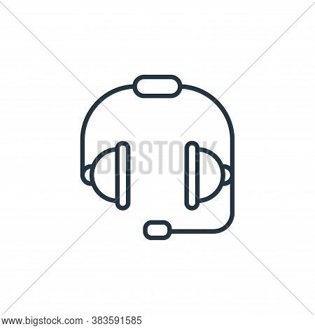 headset icon isolated on white background from e commerce collection. headset icon trendy and modern