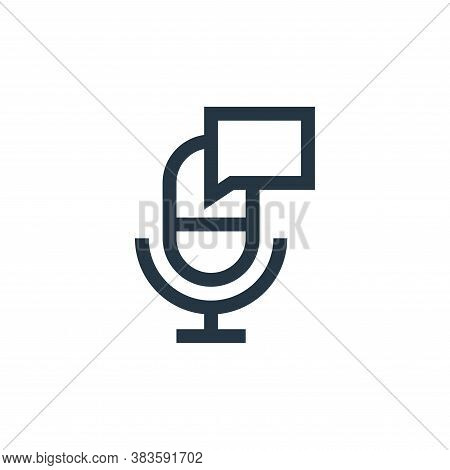 microphone icon isolated on white background from message collection. microphone icon trendy and mod