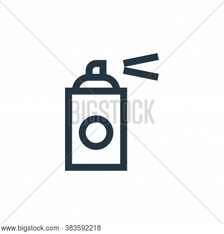 paint spray icon isolated on white background from vector editing collection. paint spray icon trend