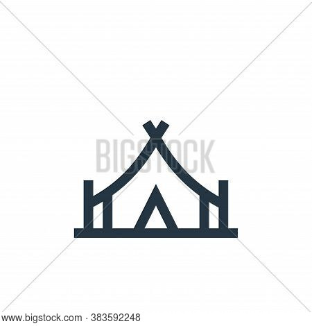 camping tent icon isolated on white background from music festival collection. camping tent icon tre