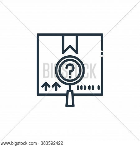 package checking icon isolated on white background from shipping logistics collection. package check
